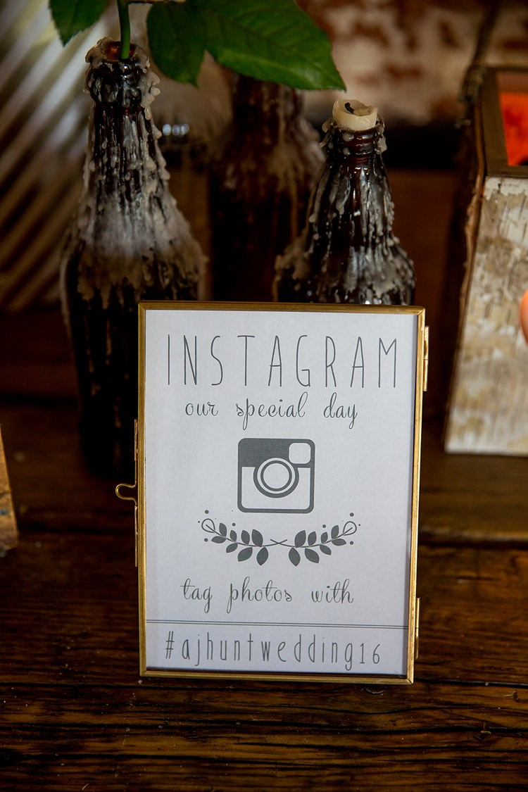 Instagram Sign Hashtag Pretty Relaxed Countryside Wedding http://katherineashdown.co.uk/