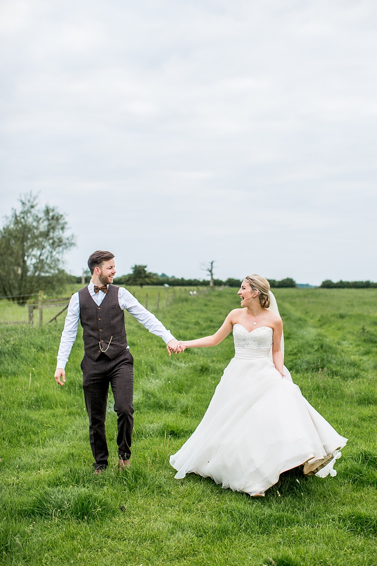 Rosa Clara Blush Strapless Gown Bride Bridal Pretty Relaxed Countryside Wedding http://katherineashdown.co.uk/