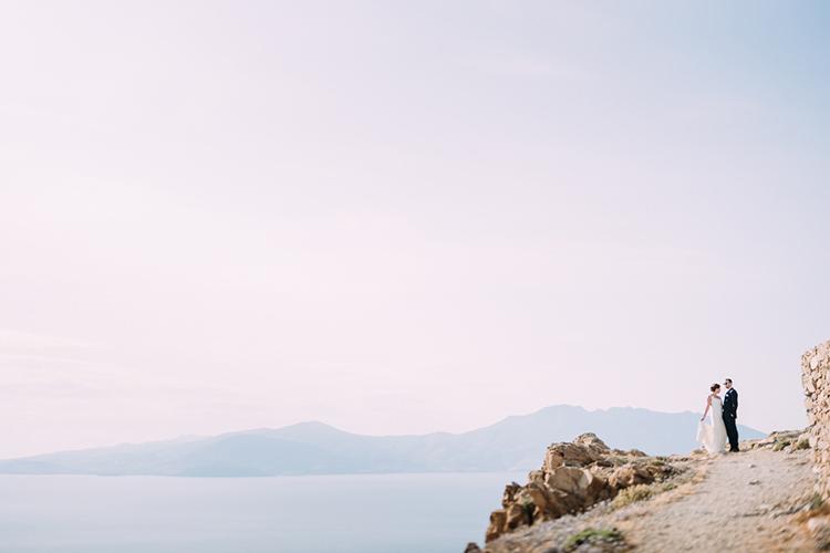 Bride Groom Hill Rocks Ocean View Breathtaking Intimate Mykonos Destination Wedding http://www.annapumerphotography.com/