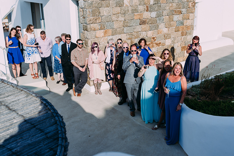 Wedding Guests Breathtaking Intimate Mykonos Destination Wedding http://www.annapumerphotography.com/