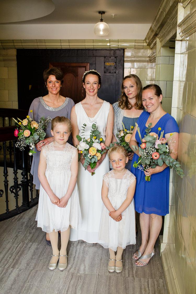 Mismatched Bridesmaid Dresses Creative DIY Industrial Warehouse Wedding http://www.michellehill.ca/