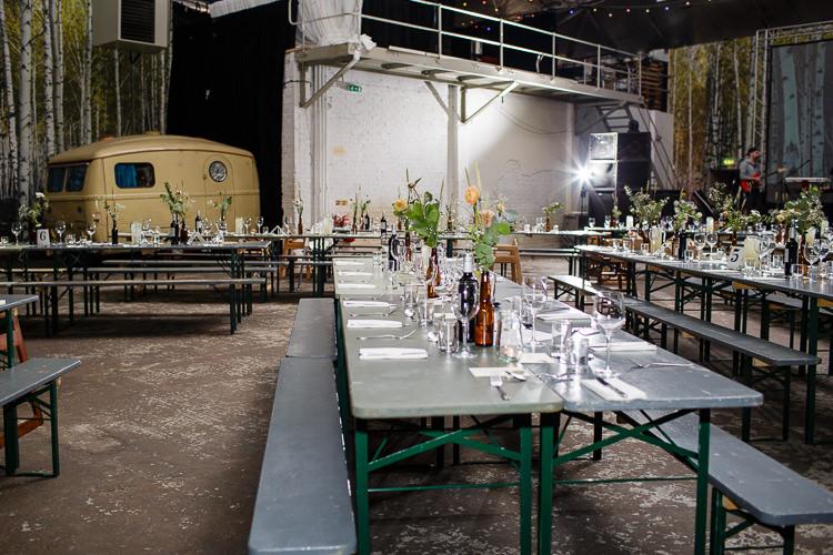 Camp Furnace Liverpool Creative DIY Industrial Warehouse Wedding http://www.michellehill.ca/