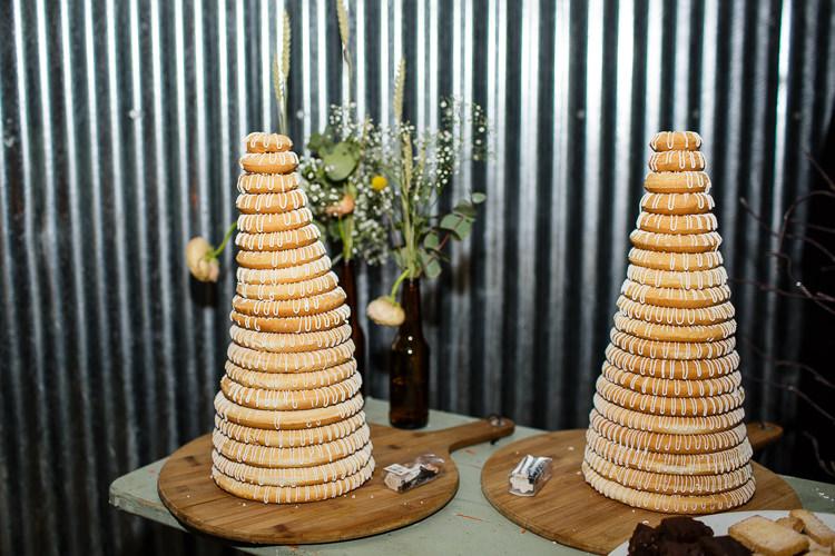 Cake Kransekake Creative DIY Industrial Warehouse Wedding http://www.michellehill.ca/