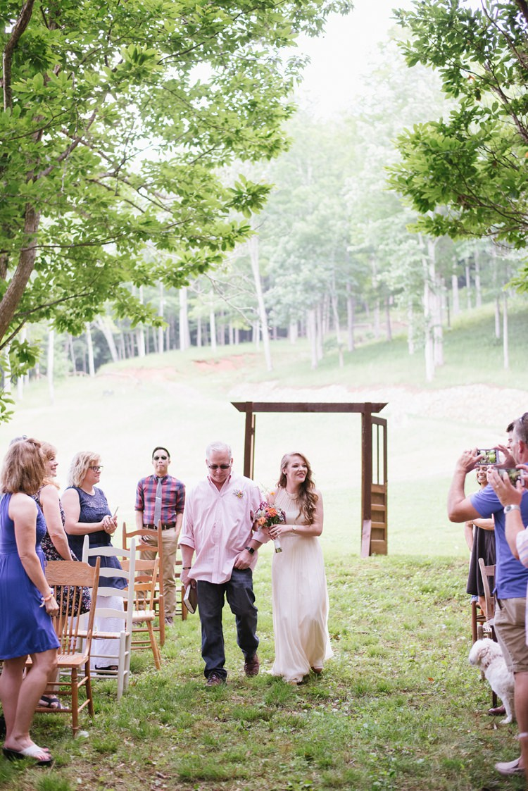 Rustic Woodsy Wedding In North Carolina Whimsical