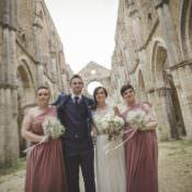 Atmospheric Abbey Wedding in Tuscany
