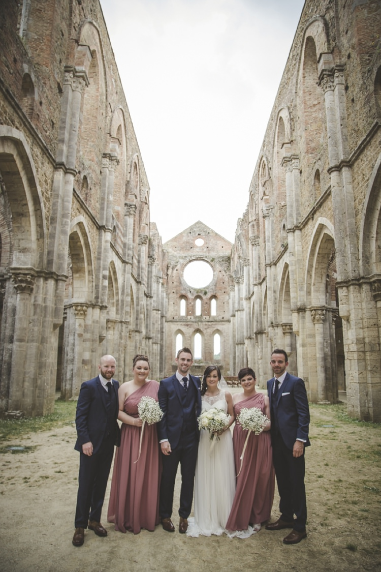 Atmospheric Abbey Tuscany Wedding http://www.angelicabraccini.com/