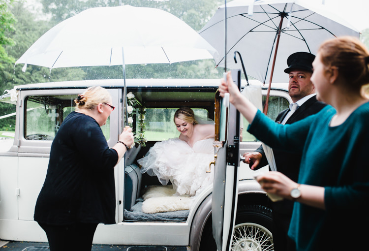 Rainy Umbrella Soft Navy Pink Classic Wedding http://www.racheljoycephotography.co.uk/