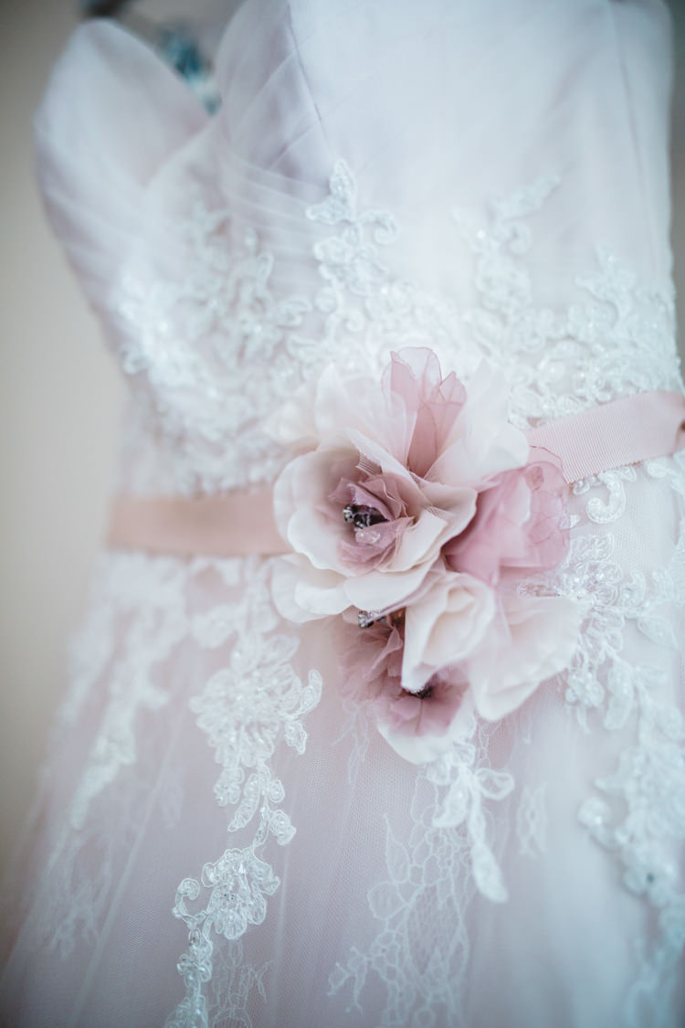 Floral Flower Belt Bride Bridal Gown Dress Soft Navy Pink Classic Wedding http://www.racheljoycephotography.co.uk/
