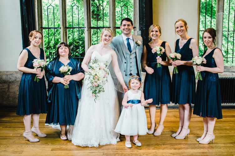 Short Dresses Bridesmaids Soft Navy Pink Classic Wedding http://www.racheljoycephotography.co.uk/