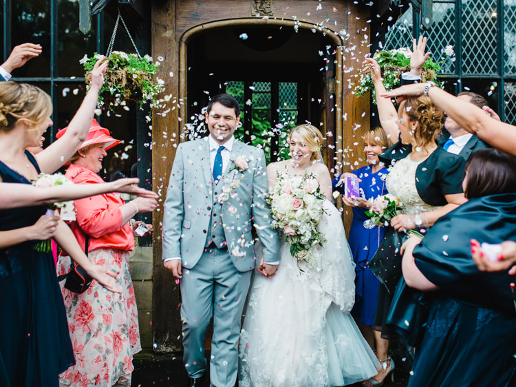 Confetti Throw Bride Groom Soft Navy Pink Classic Wedding http://www.racheljoycephotography.co.uk/