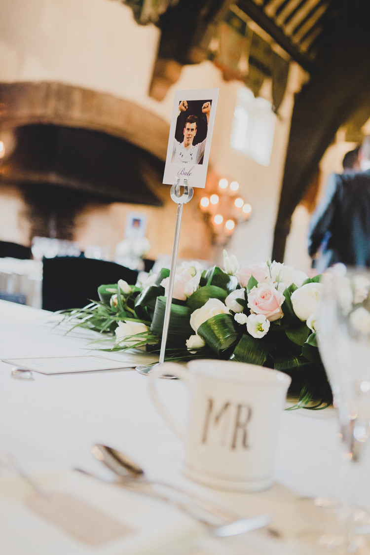 Football Player Table Names Soft Navy Pink Classic Wedding http://www.racheljoycephotography.co.uk/