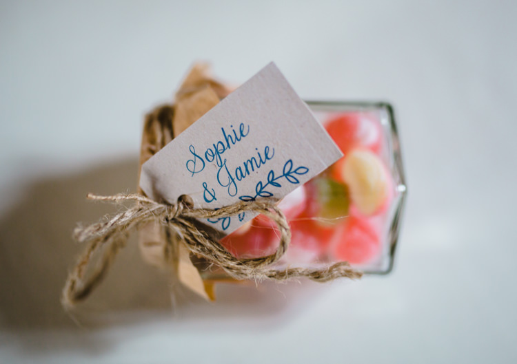 Sweet Sweetie Favours Soft Navy Pink Classic Wedding http://www.racheljoycephotography.co.uk/