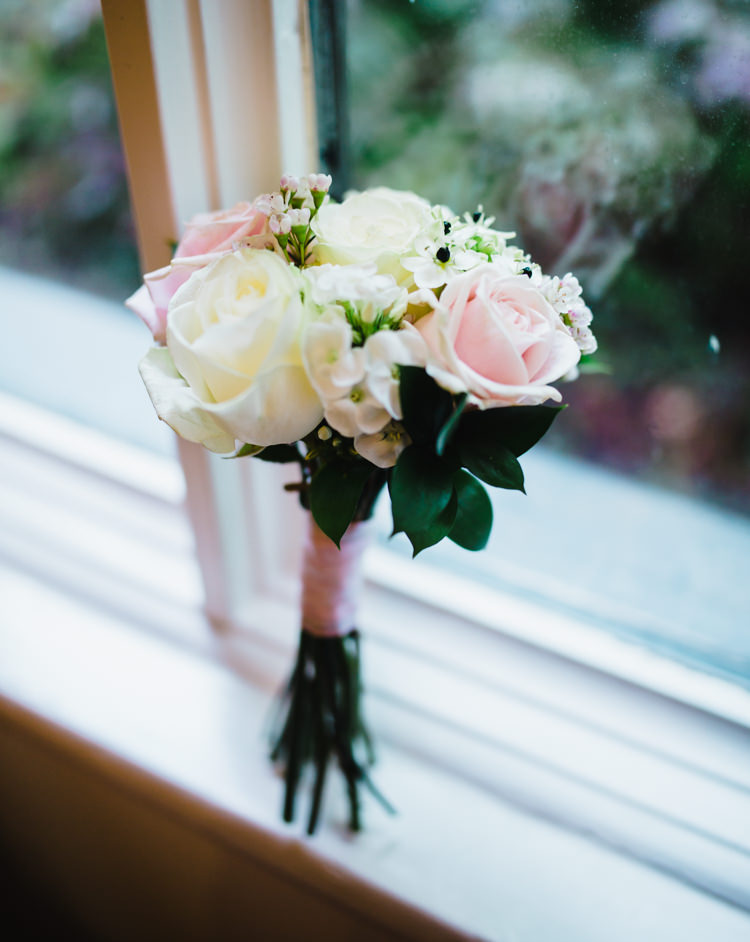 Bridesmaid Bouquet Rose Flowers Soft Navy Pink Classic Wedding http://www.racheljoycephotography.co.uk/