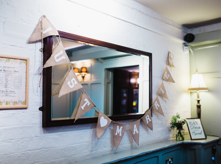 Hessian Bunting Soft Navy Pink Classic Wedding http://www.racheljoycephotography.co.uk/
