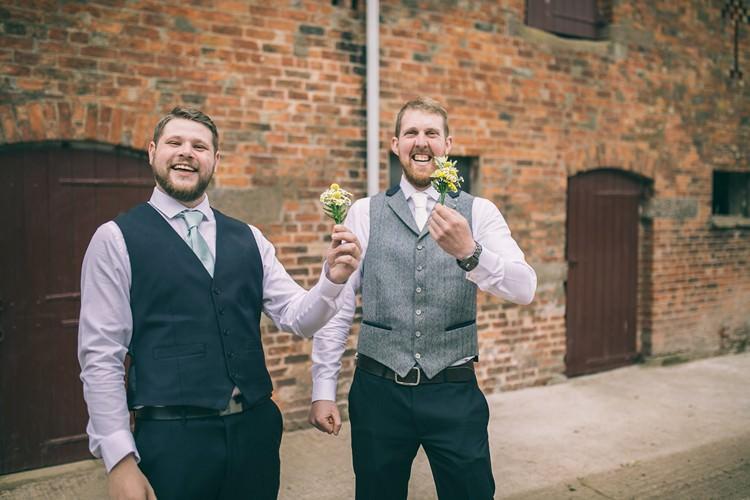 Waistcoats Groom Groomsmen Bohemian Home Made Farm Wedding http://www.jessyarwood.co.uk/