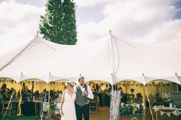 Pole Tent Marquee Bohemian Home Made Farm Wedding http://www.jessyarwood.co.uk/