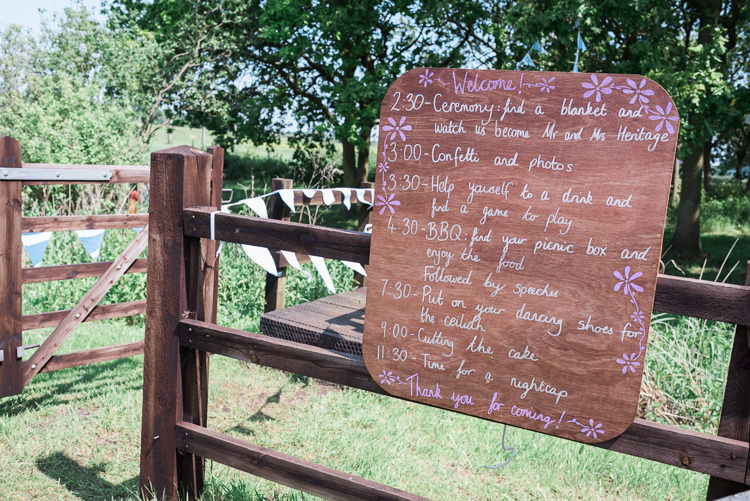 Wooden Rustic Welcome Sign Outdoor DIY Farm Wedding http://www.markewelsphotography.com/