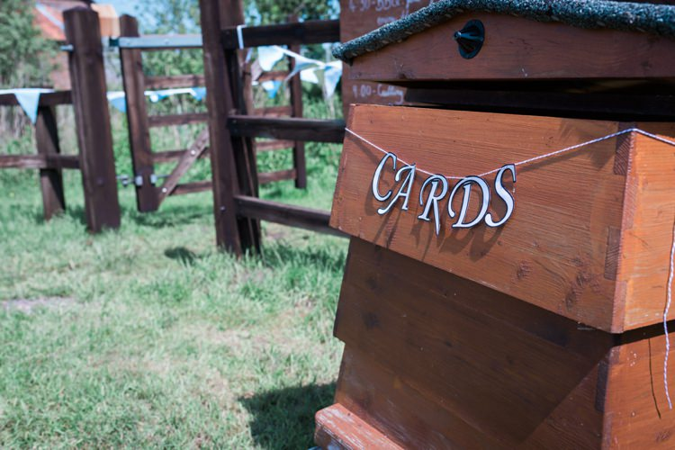 Beehive Card Holder Outdoor DIY Farm Wedding http://www.markewelsphotography.com/