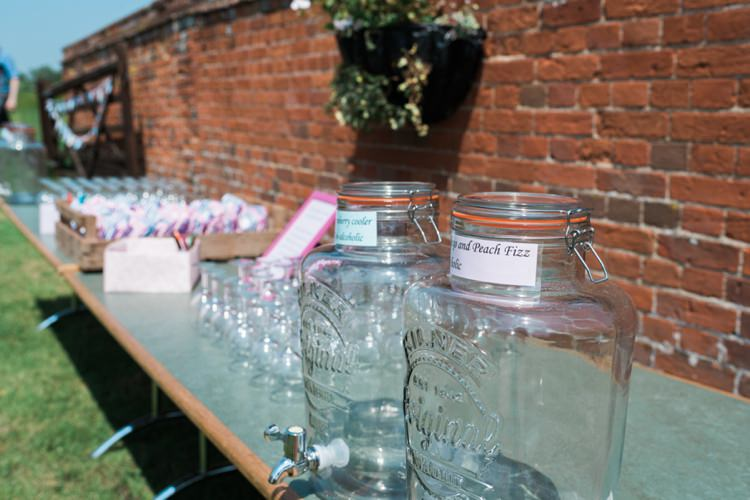 Drink Dispensers Outdoor DIY Farm Wedding http://www.markewelsphotography.com/