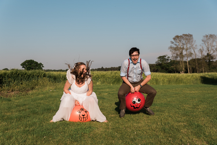 Space Hoppers Bride Groom Outdoor DIY Farm Wedding http://www.markewelsphotography.com/