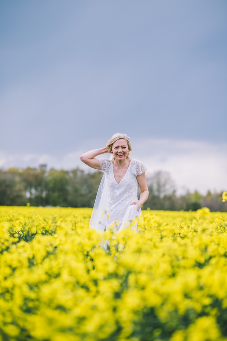 Eliza Jane Howell Jayne Dress Gown Bride Bridal Beaded Sleeves Home Made Country Festival Wedding http://www.jamespowellphotography.co.uk/