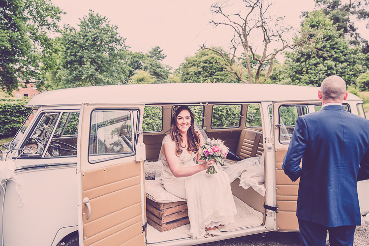 VW Camper Transport Relaxed English Country Garden Party Wedding http://hayleybaxterphotography.com/