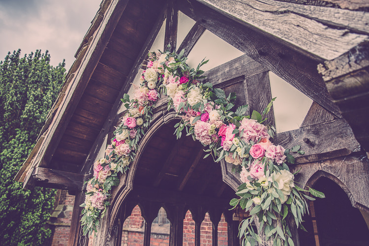 Church Flower Arch Floral Relaxed English Country Garden Party Wedding http://hayleybaxterphotography.com/