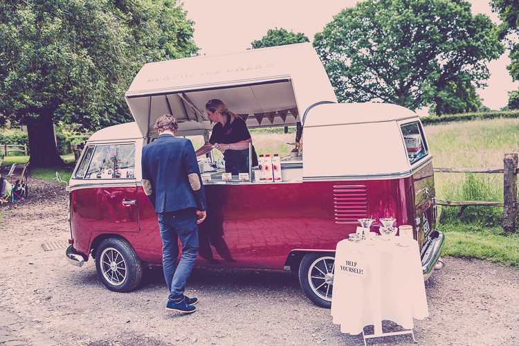 Ice Cream Van Relaxed English Country Garden Party Wedding http://hayleybaxterphotography.com/
