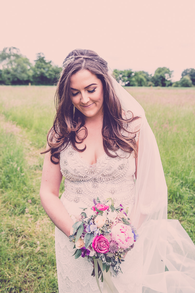 Coco Anna Campbell Dress Bride Bridal Gown Veil Relaxed English Country Garden Party Wedding http://hayleybaxterphotography.com/
