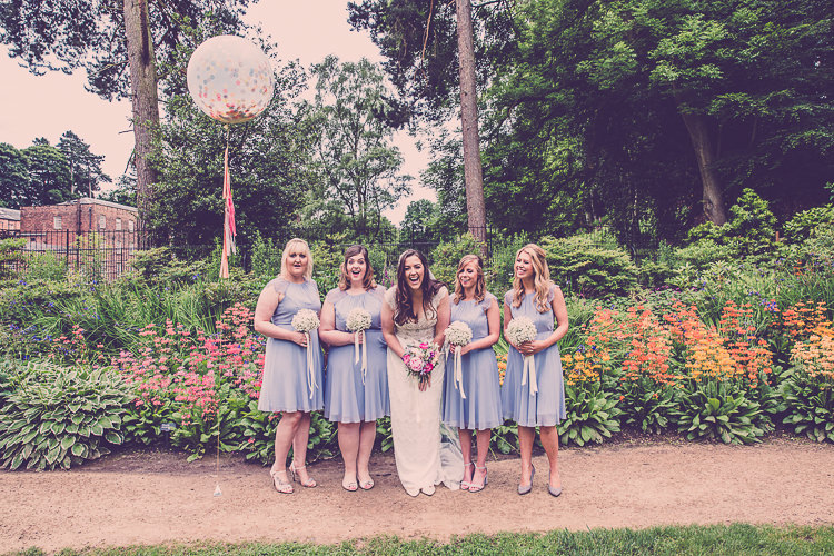 Short Grey Bridesmaid Dresses Relaxed English Country Garden Party Wedding http://hayleybaxterphotography.com/