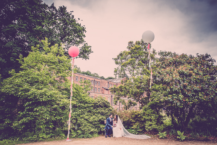 Giant Tassel Balloons Relaxed English Country Garden Party Wedding http://hayleybaxterphotography.com/
