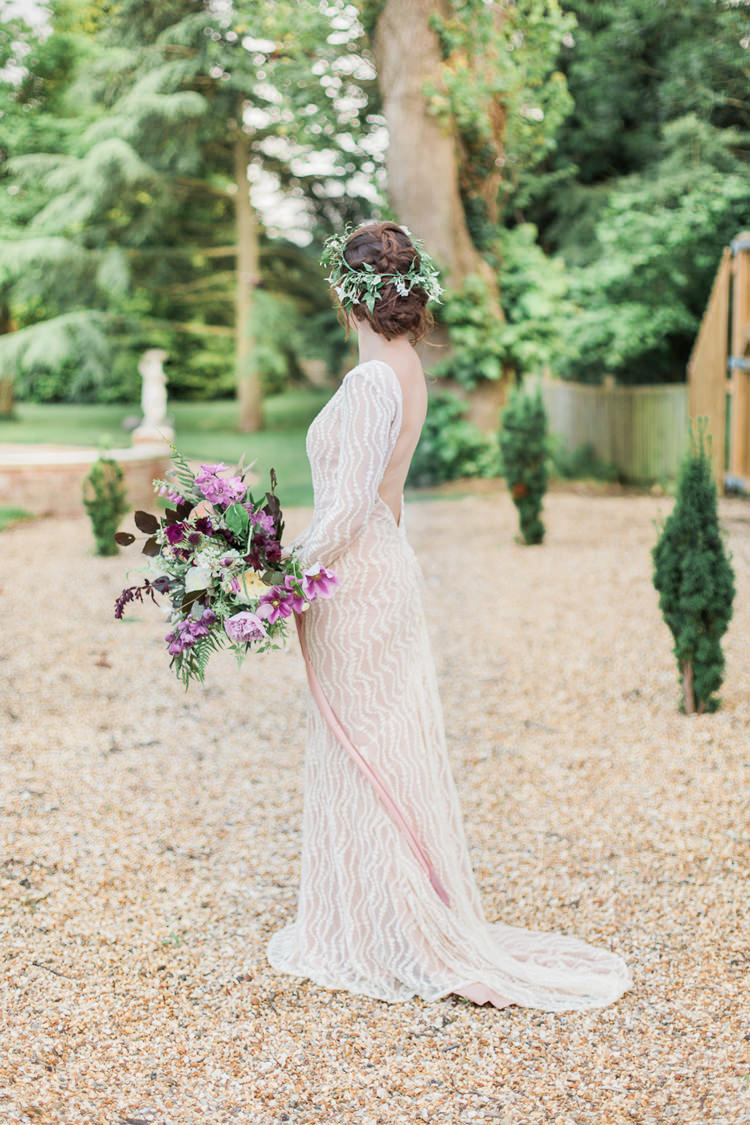 Bride Bridal Dress Gown Jarlo Blush Nude Fine Art Bohemian Luxe Wedding Ideas http://jessicadaviesphotography.co.uk/