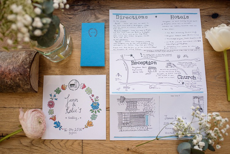 Illustrated Map Stationery Invitation Stylish Floral Barn Wedding http://www.sarareeve.com/