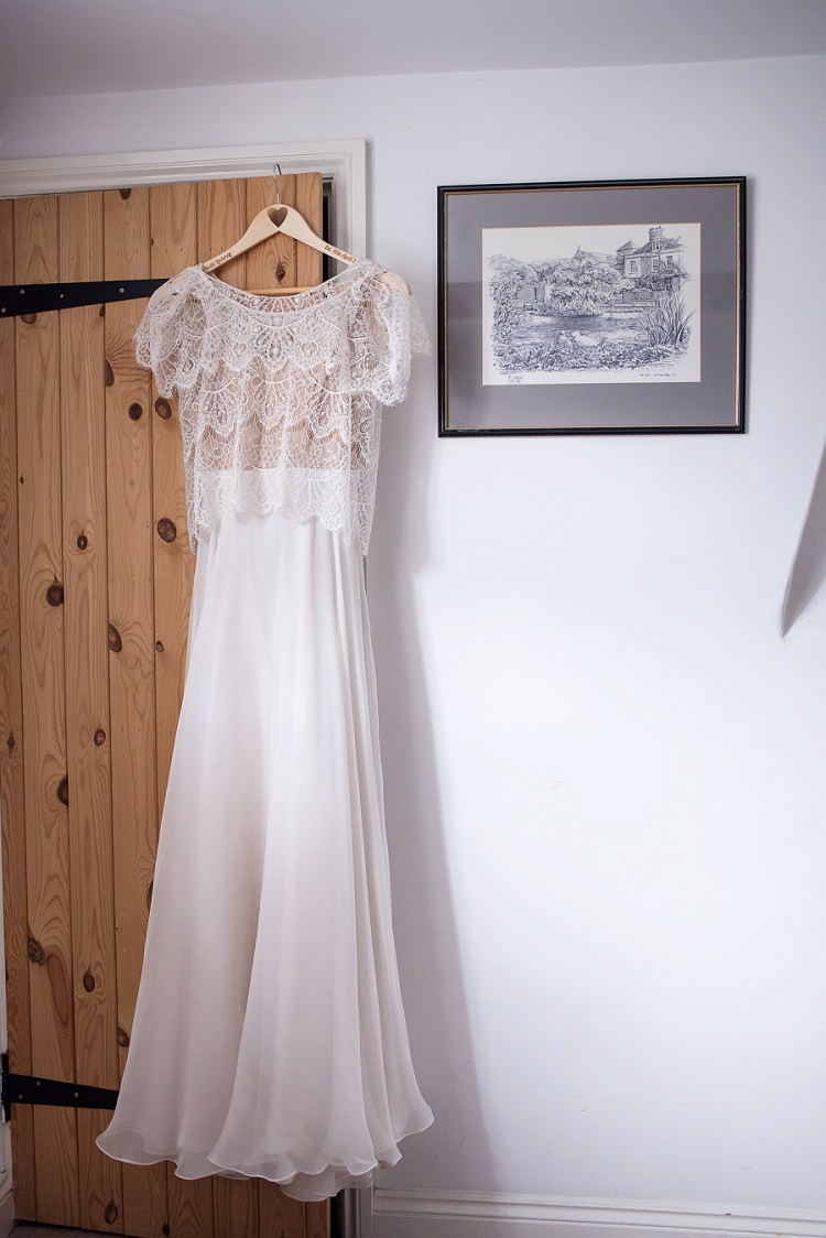 Limor Rosen Dress Gown Bride Bridal Two Piece Top Skirt Stylish Floral Barn Wedding http://www.sarareeve.com/