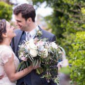 Stylish Floral Barn Wedding