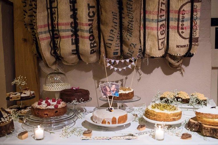Cake Table Dessert Stylish Floral Barn Wedding http://www.sarareeve.com/