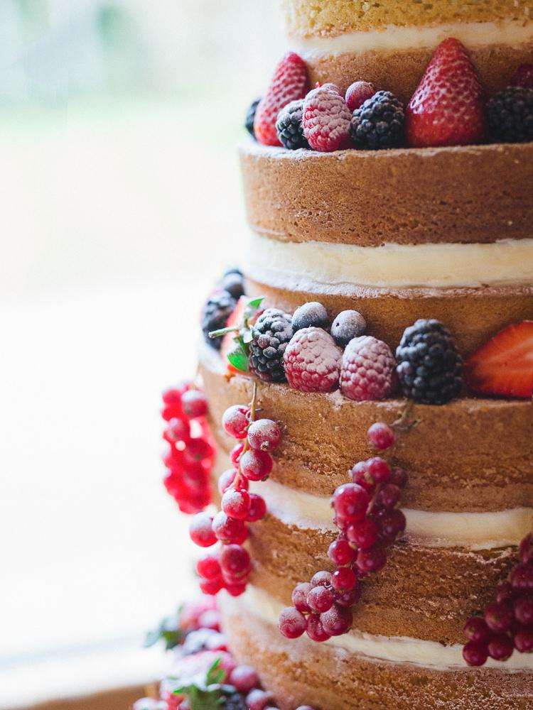 Naked Cake Layer Sponge Butter Cream Berries Fruit Pretty Home Made Pastel Floral Wedding http://www.stephanieswannweddings.co.uk/