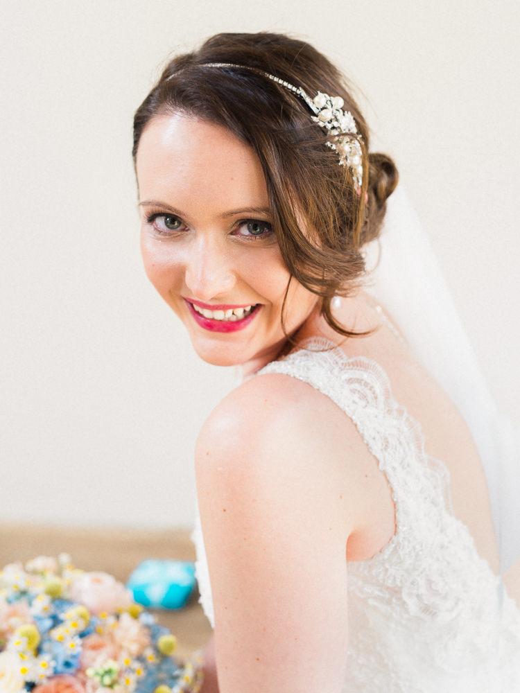 Make Up Hair Bride Bridal Style Pretty Home Made Pastel Floral Wedding http://www.stephanieswannweddings.co.uk/