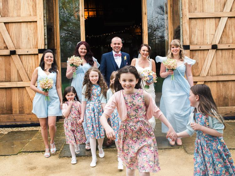 Flower Girls Dresses Blue Bridesmaids Pretty Home Made Pastel Floral Wedding http://www.stephanieswannweddings.co.uk/