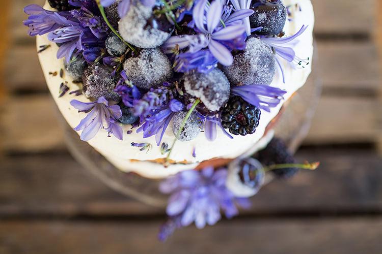 Fruit Flowers Purple Lilac Cake Topper Alternative Colourful Boho Wedding Ideas http://www.binkynixon.com/