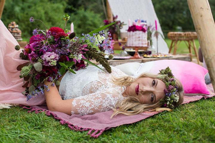 Alternative Colourful Boho Wedding Ideas & Yurt Tipi Wedding Hire Bedfordshire by Funky Monkey Tents ...