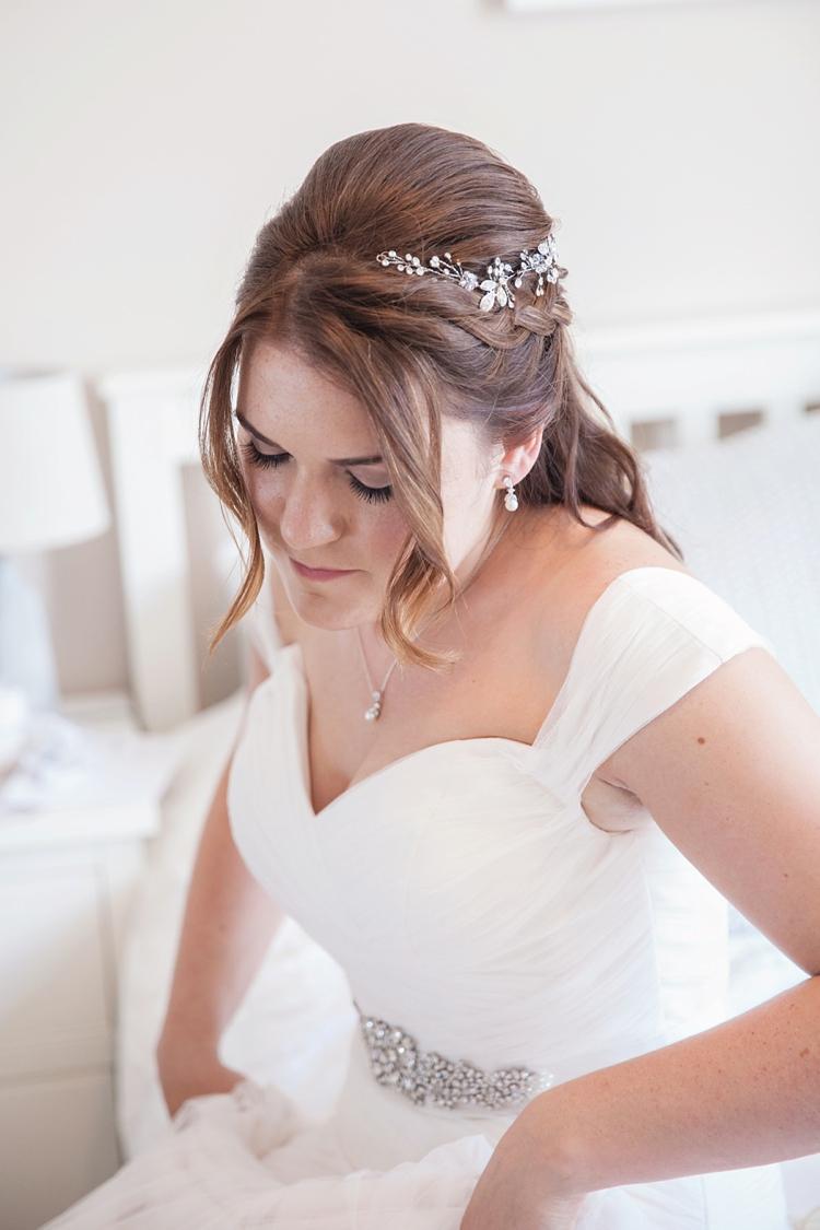 Bride Bridal Hair Style Half Up Down Pink Rustic Tipi Woodland Wedding http://kerryannduffy.com/