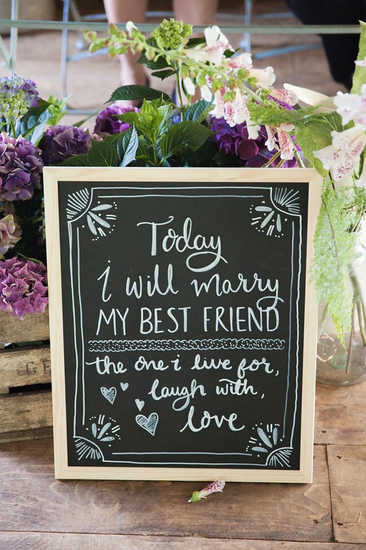 Sign Black Chalk Board Best Friend Pink Rustic Tipi Woodland Wedding http://kerryannduffy.com/