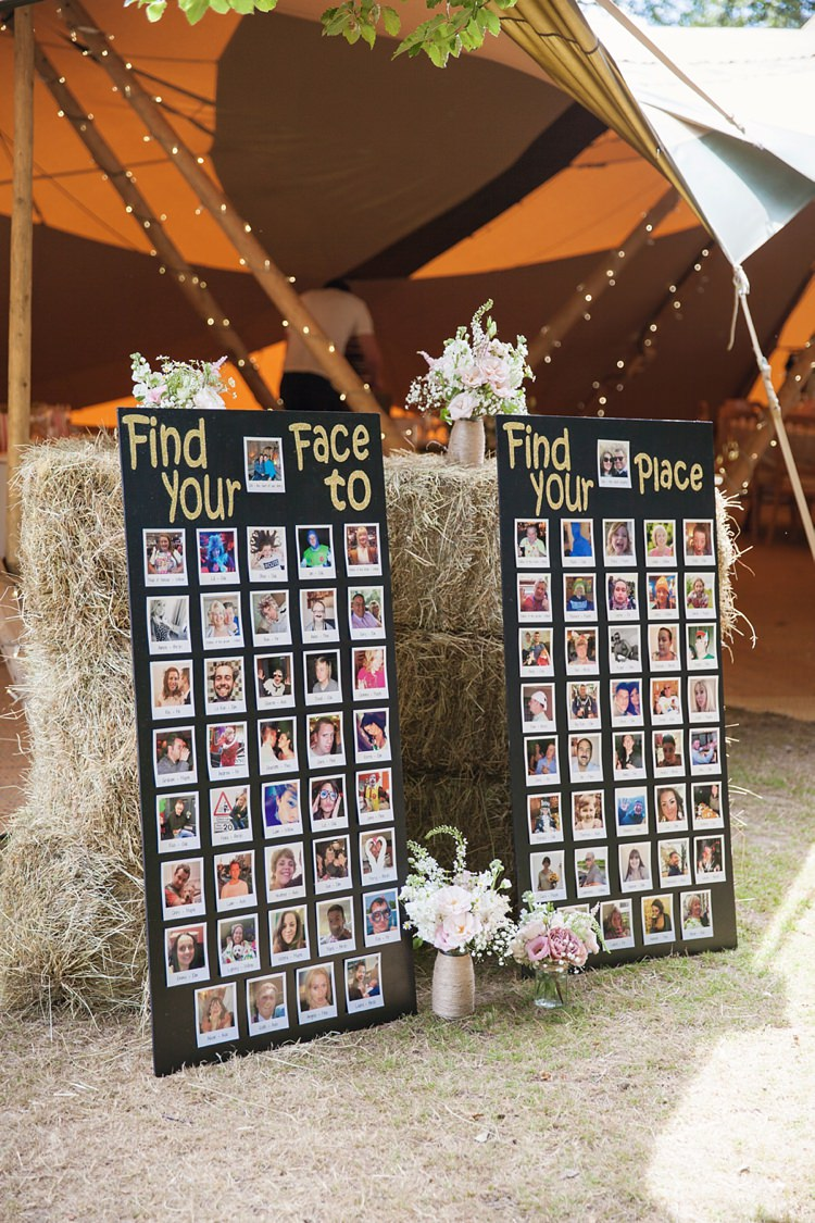 Photograph Seating Table Chart Plan Pink Rustic Tipi Woodland Wedding http://kerryannduffy.com/