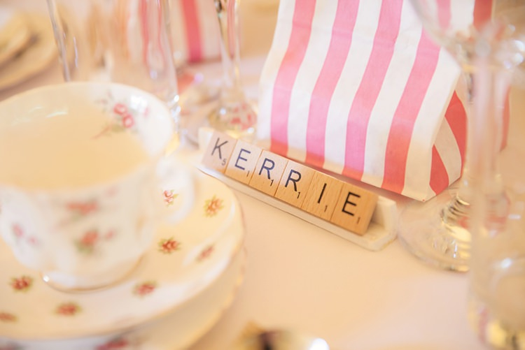 Scrabble Place Names Pink Rustic Tipi Woodland Wedding http://kerryannduffy.com/