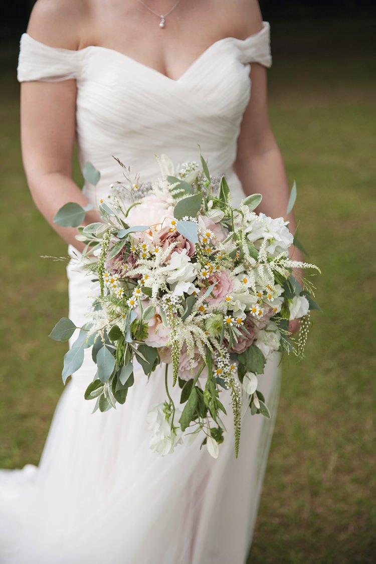 Bouquet Flowers Large Cascading Rose Greenery Bride Bridal Pink Rustic Tipi Woodland Wedding http://kerryannduffy.com/