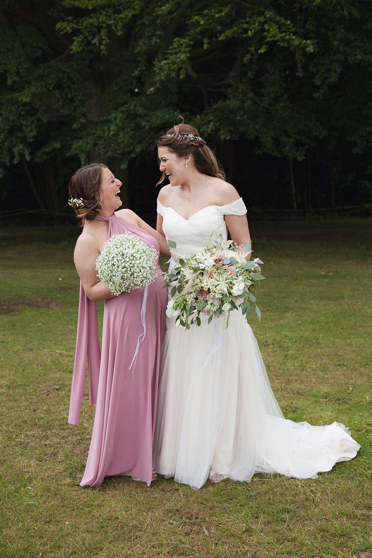 Long Pink Multiway Bridesmaid Dress Pink Rustic Tipi Woodland Wedding http://kerryannduffy.com/