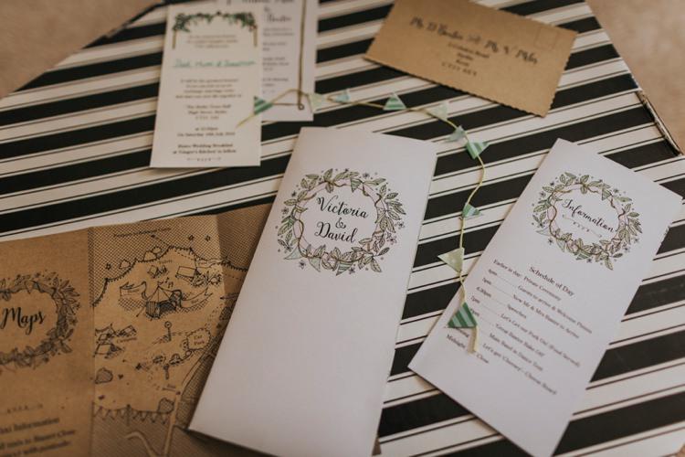 Illustrated Stationery Invitations Creative Festival Wedding http://benjaminstuart.co.uk/