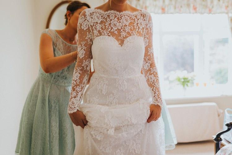 Lace Sleeves Dress Vintage 1950s Bride Bridal Creative Festival Wedding http://benjaminstuart.co.uk/