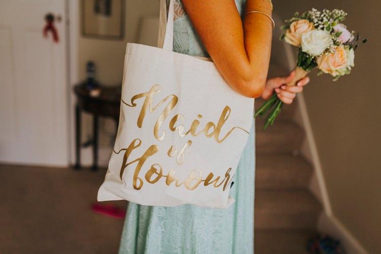 Maid of Honour Tote Bag Creative Festival Wedding http://benjaminstuart.co.uk/